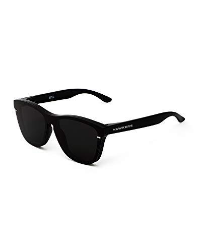 HAWKERS Gafas de Sol Venm Hybrid Dark, Hombre y Mujer, con montura negra acabado brillo y lente, Protección UV400, One Size Unisex adulto
