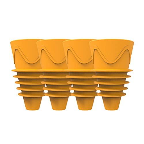 Yoohh, trappole adesive gialle, 4 pezzi riutilizzabili in gomma, trappole per mosce, trappole per mosce, antimosche per cucine, ristoranti, bar all aperto, per zanzare, funghi e mosche