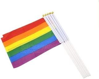 Bandera del Orgullo Gay Derles Bandera del Orgullo de Madera Regalo de Orgullo Bandera de LGBT