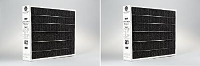 Lennox X6675 Carbon Clean 16 MERV 16 Filter 20-Inch x 25-Inch x 5-Inch (2 Pack)