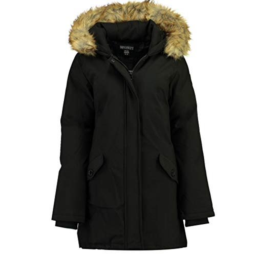Geographical Norway Parka Mujer DINASTY Negro 03