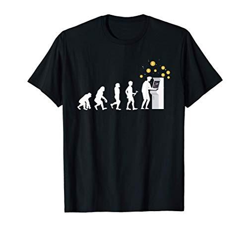 Evolución Divertida Bitcoin Crypto Comerciante Camiseta