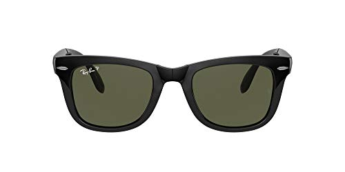 RAY-BAN Folding Wayfarer Gafas de sol, Black, 54 para Hombre