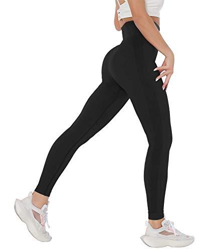 COMFREE Damer prickig poäng booty kontur leggings yoga sport leggings sömlös ogenomskinliga leggings fitness leggings tights sport joggingbyxor yoga byxor kvinnor, #2 Klassisk svart, M