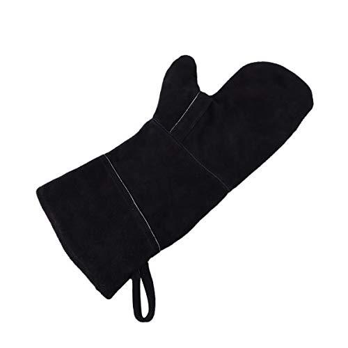 BESTONZON Extreme Hitzebeständige Hitzebeständige Handschuhe aus Leder perfekt für Kaminofen, Grillrost von BBQ Pot Holder