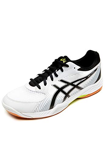 Asics Gel-Task, Zapatillas de Voleibol para Hombre, Blanco (White / Black / Mid Grey), 44.5 EU