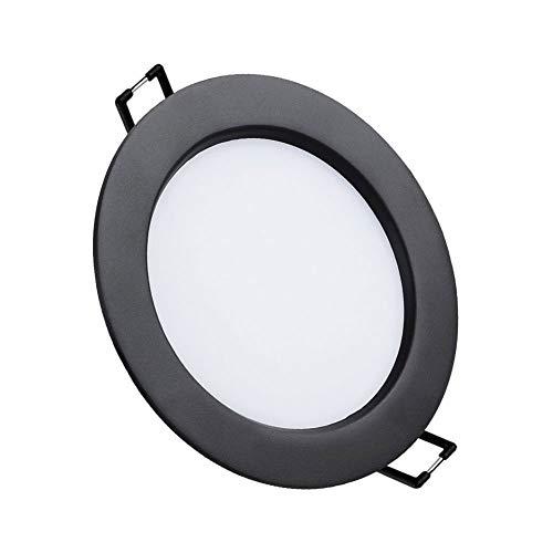 Mdjywl Hermoso Luz de Techo Negro Diseño Ultrafino 12W Empotrado de 5,5...