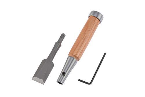 Holzmeißel aus Schnellarbeitsstahl, hergestellt in Japan, kann auch für Ebenholz, Polyesterharz und Aluminium verwendet werden, Klingenbreite 24 mm.