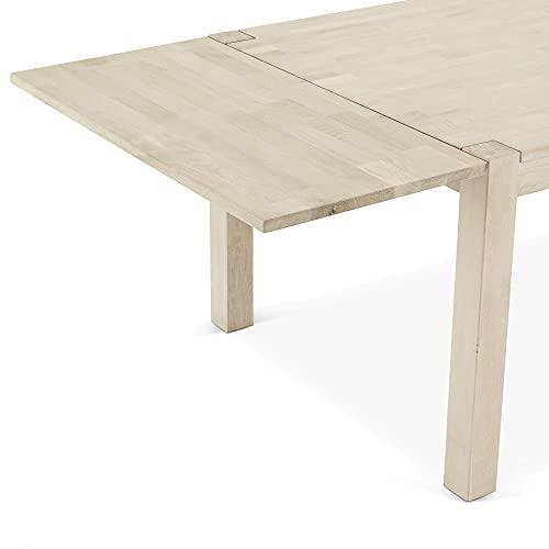 mesa comedor extensible de madera de Roble