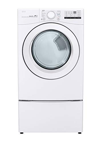 LG DLE3400W 7.4 Cu.Ft. White Front Load Electric Dryer