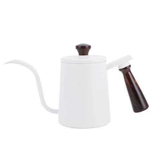 Hervidor de café y té, tetera de goteo manual, cafetera, con pico largo para té y café, uso en el hogar y la cocina, oficina y cafetería