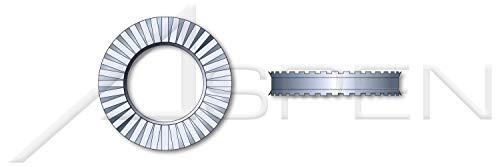 (300 pcs) M8, Metric, Rib Spring Lock Washers, Schnorr, Heavy Duty, Spring Steel, Zinc Plated