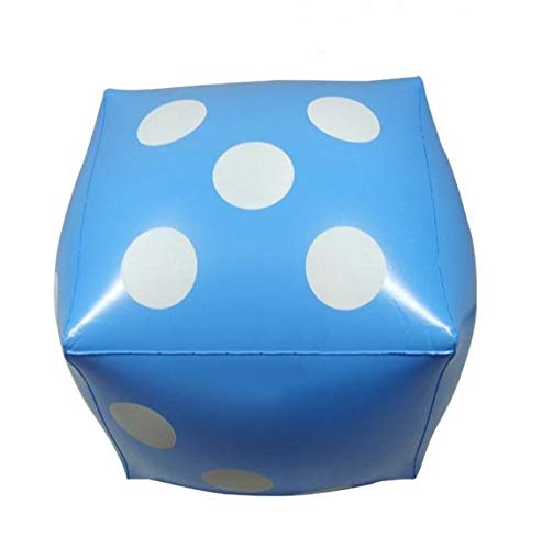 XPdesign ジャンボサイコロ 大きいサイコロ ビーチボール サイコロ 大きい 巨大 ビッグ ジャンボ 巨大ビーチボール (37cm 青色 1個)