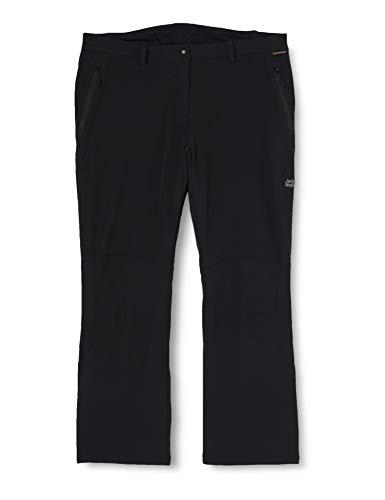 Jack Wolfskin Damen Softshellhose Activate, black, 44, 1500072-6001044