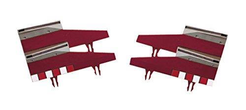 Accessoires Original - B02005x200 - Circuit De Voiture - Pièces Détachées - Bordure Avec Barrière - Lot De 4