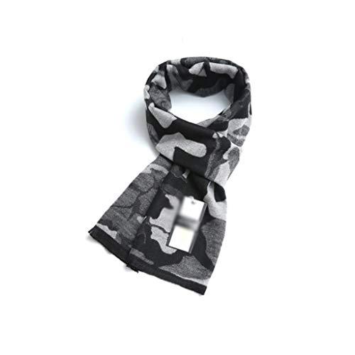 WPBOY Schal für Herren, groß, Herbst/Winter, weich, modisch, dick, lang, kariert, ideales Geschenk für Familie und Freunde (Farbe: Milch)