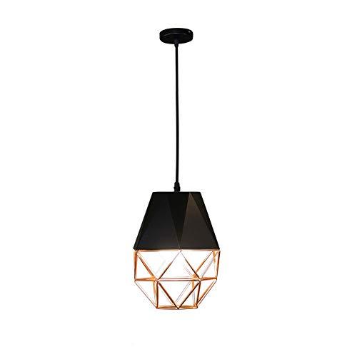 Simple Fuente de Luz pendiente de la luz LED del hierro de Droplight moderna lámpara de rombo Adecuado para su comedor, sala de estar, dormitorio, Entrada suspensión lámpara de la lámpara nórdica