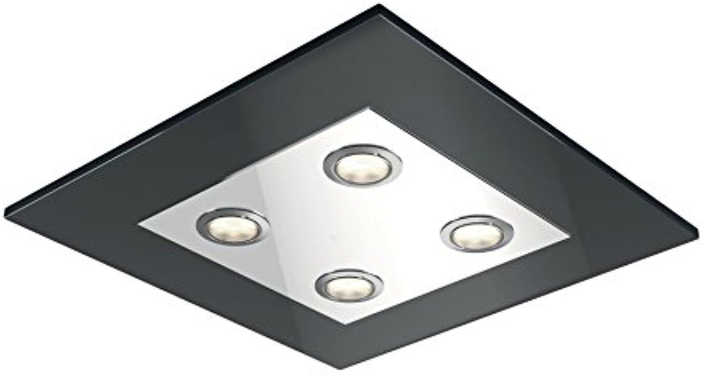 Philips Lighting InStyle LED-Deckenleuchte Matrix, 2000lm, Chrom, Glas, Integriert, 4.5 W, 31.5 x 31.5 x 4.2 cm