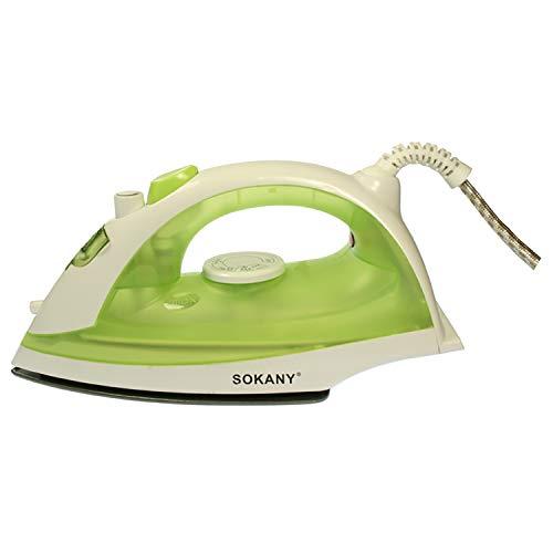 SOKANY HJ-8002-V Plancha de Vapor 1600W Plancha de Acero Inoxidable Pulido