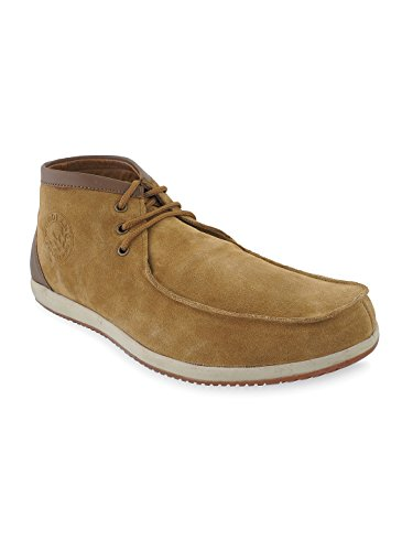 Woodland Men's Camel Leather Outdoor Shoes