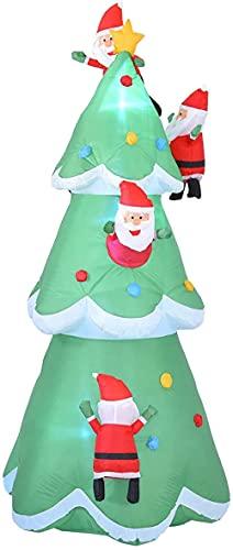 8 FT jätte uppblåsbar julgran med ledde lampor, uppblåsbar jultomten klättringsträd julblåsning modell gårdsdekorationer, jul ut