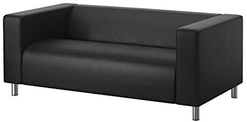 The PU Leather Klippan Loveseat Sofa Cover Replacement Is Custom Made for Ikea Klippan Loveseat Sofa Slipcover. (New Black Leather)