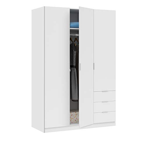 Habitdesign LCX323O - Armario ropero de Tres Puertas y Tres cajones, Color...