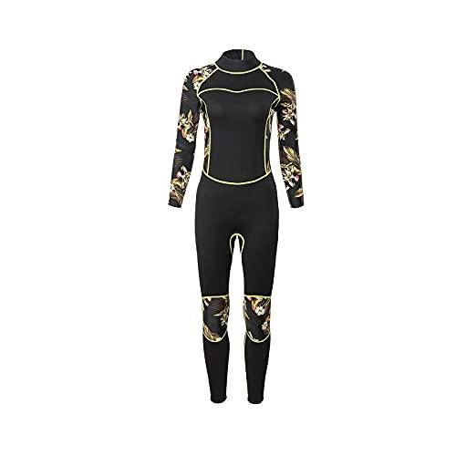 Combinaison de plongée, Combinaison d'hiver pour femmes, Wetsuit pour femmes en néoprène de 3 mm de néoprène, Combinaison à séchage rapide, surf de surf de plongée de plongée de plongée à eau froide S