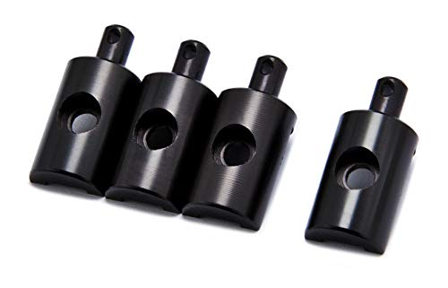 PrecisionGeek Ersatzteil für Tamiya Lunchbox Karosseriehalter Aluminium Shwarz eloxiert 1 Satz (4 Stück)