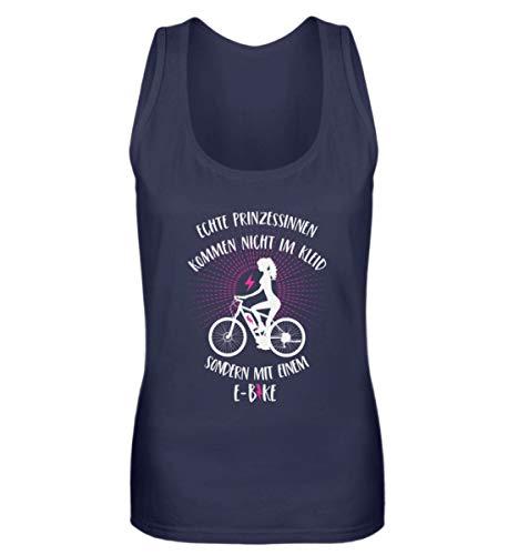 Shirtee Las princesas vienen con una bicicleta eléctrica – Camiseta de tirantes...