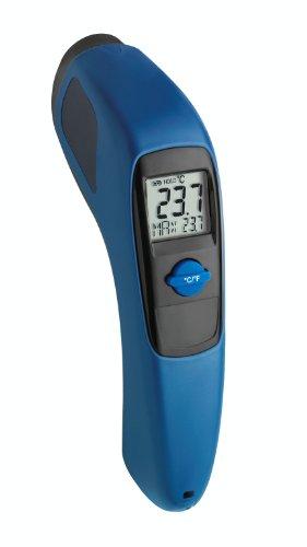 TFA Dostmann Multi-Beam Infrarot Thermometer, berührungloses Messen, Oberflächentemperatur, Höchsttemperaturanzeige, Messfeldmarkierung, Profi-Einsatz geeignet