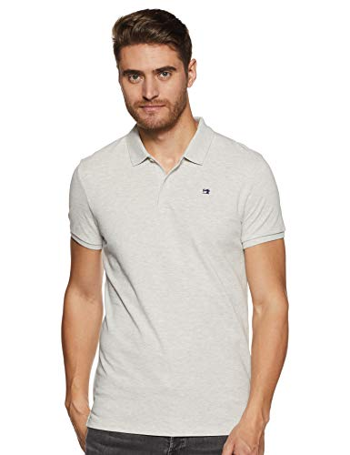 Scotch & Soda Nos- Classic Polo In Pique Quality with Clean Outlook, Gris (Light Grey Melange 1161), XX-Large para Hombre