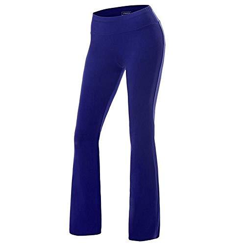 FYMNSI - Pantalones Largos de Entrenamiento para Mujer, para Correr, Yoga, Pilates Azul Cobalto S