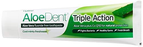 AloeDent Triple Action Aloë Vera Fluoride-vrij tandpasta, per stuk verpakt (1 x 100 ml) bianco