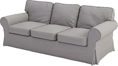 Couvre Seulement! Le canapé n'est Pas Inclus! IKEA Ektorp 3 Seat Sofa Coton Couverture de Remplacement est fabriqué sur IKEA Housse pour Ektorp Sofa Gris Clair Coton Durable
