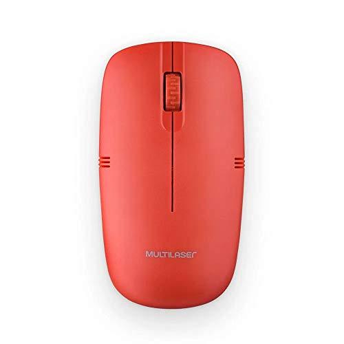 Mouse sem Fio 2.4GHZ USB Vermelho - MO289, Multilaser