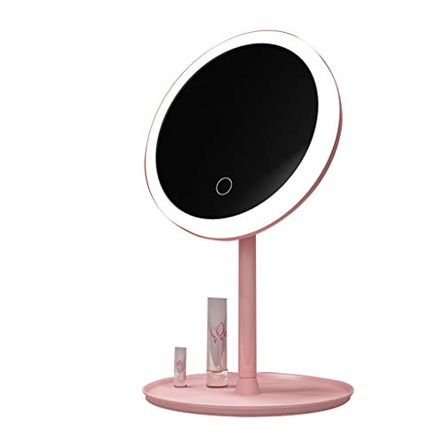 Beauty Mirror Makeup Mirror with Light Rechargeable, Removable Portable 180 Degree Free Rotation Best for Bathroom or Bedroom Table Top Dressing Mirror