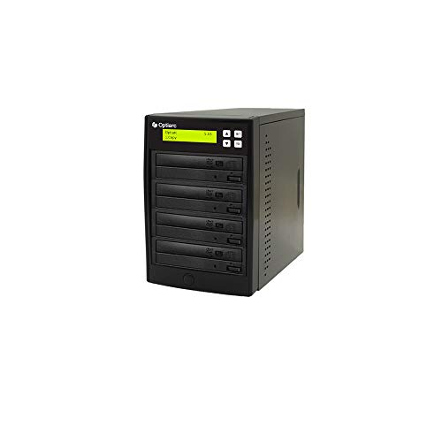 Optiarc 1 to 3 24X Burner M-Disc Support CD DVD Duplicator - Standalone Copier Duplication Tower (OPT-S3T-DVD-BK)