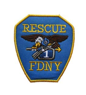 New York City Fire Department FDNY Rescue Tactical Embroidery Patch Hook & Loop Morale Patch Military Patch for Clothing Accessory Backpack Armband
