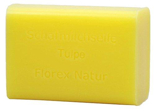 Preisvergleich Produktbild Florex Schafmilchseife Tulpe ca. 100 g Stück Seife Naturseife Schafmilch