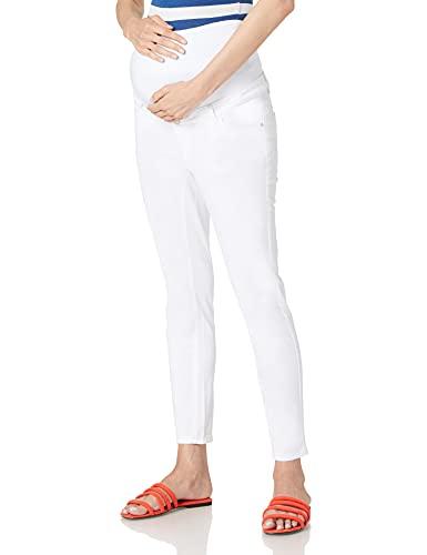 Esprit Maternity Pants wvn OTB Slim 7/8 Pantaln, Blanco Brillante – 101, 46 para Mujer
