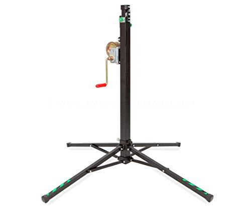 Traversen Lift für Messestände max. Höhe 380cm und max. Gewicht 125kg, HTL 125-S - Aufbauhilfe für Traversen Traversenlift Stativ für Straversen Kurbelstativ Stative für Truss Wind Up