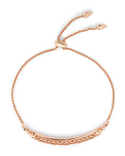 Kendra Scott Gilly Link Chain Bracelet for Women, Fashion Jewelry, Filigree, 14k Rose Gold Plated