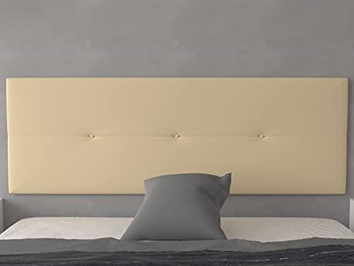 LA WEB DEL COLCHON - Cabecero tapizado Julie para Cama de 150 (160 x 55 cms) Beige