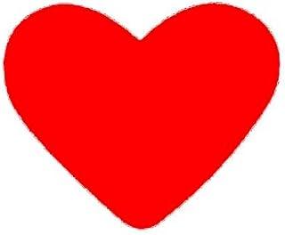 Artemio 2,5 cm Perforadora Eva en Forma de corazón, Rojo