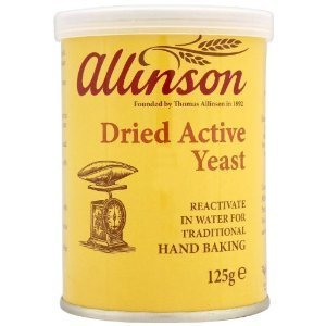Allinson Dried Active Baking Yeast / Leavener 125g / 5 Oz - Pack of Ten by Cooking Marvellous