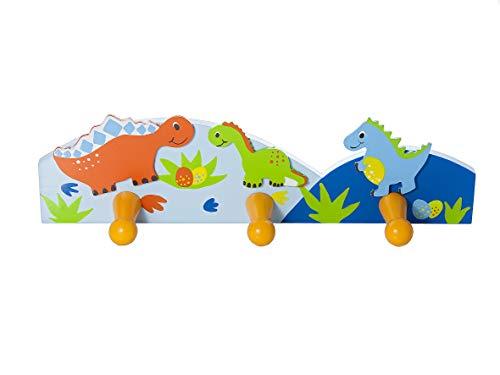 Mousehouse Gifts Ganchos para Abrigos niños para la Ropa con decoración de Dinosaurios para la habitación de los niños