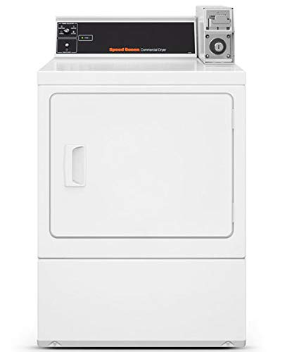 Speed Queen White Commercial Rear Control Single Gas Dryer - SDGSXRGS113TW01