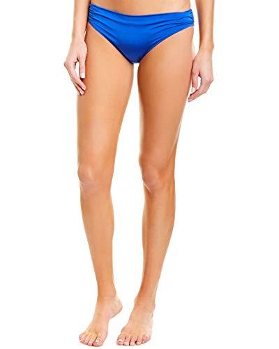 Stella McCartney Ballet Draped Classic Bikini Bottoms Royal/Emerald SM