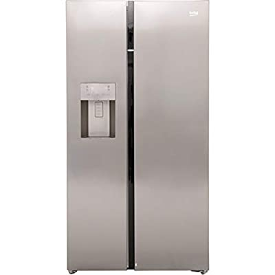 Beko ASGN542X Freestanding A+ Rated American Fridge Freezer -Stainless Steel